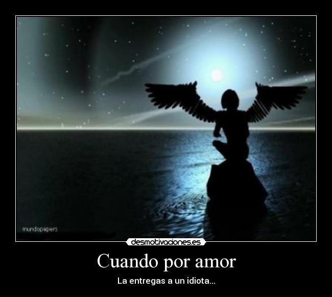 Angel triste por amor