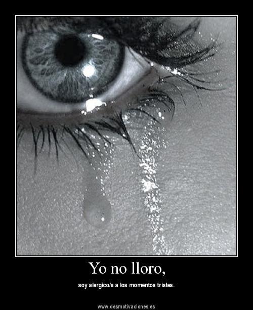 ojo con lágrimas