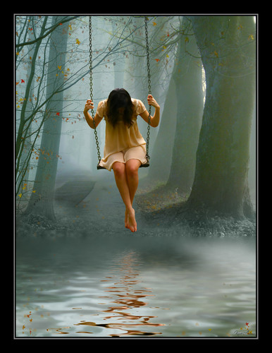mujer triste en columbio