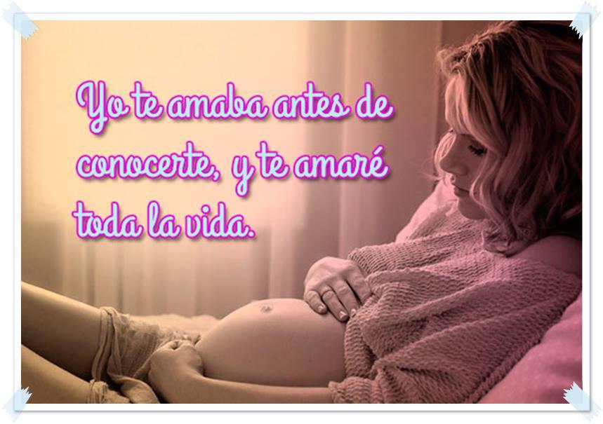 embarazada acostada