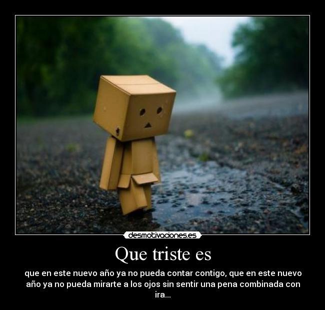 Triste por amor