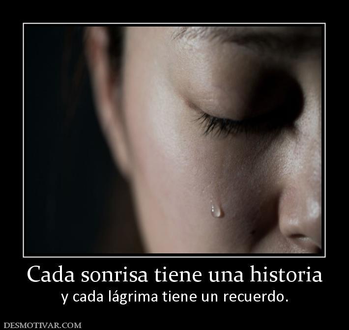 Lágrimas con recuerdo