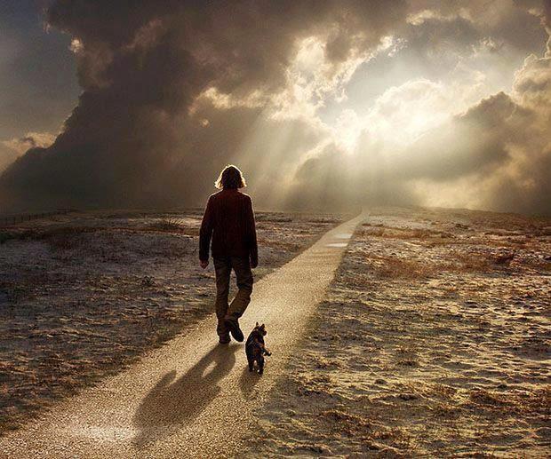 Caminando solo