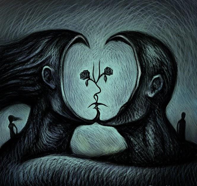Pareja triste por amor