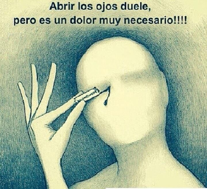 Duele abrir los ojos