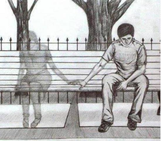 Joven solo y triste