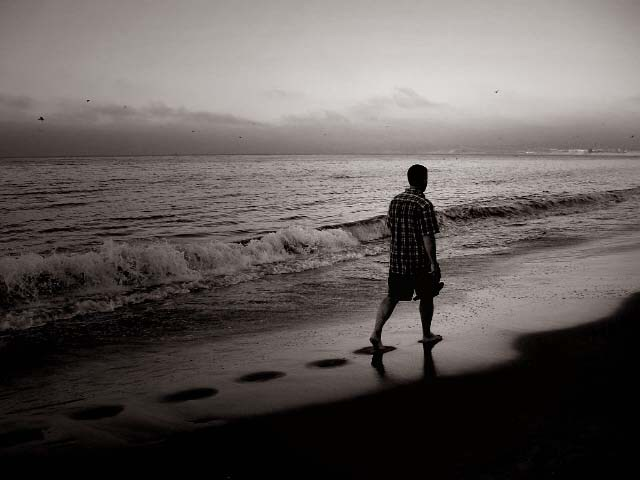Jombre caminando